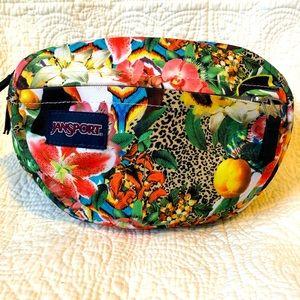 JANSPORT waist pack jungle floral compact belt bag